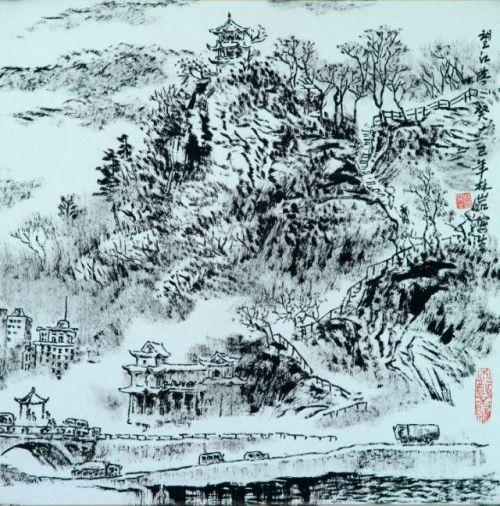 山水画家林岩作品欣赏(图)_展厅_书画_艺术_天之水网