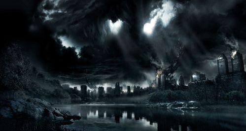 黑色孤獨凄慘風景