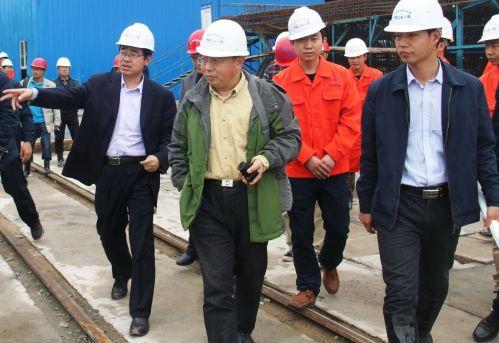 检查组到昌赣客专铁路建设工地进行了全线质量安全监