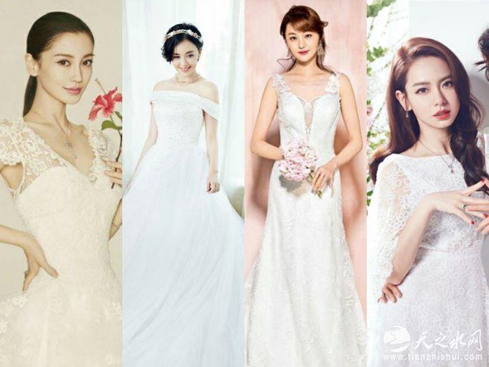 1.盘点穿婚纱最好看的女星
