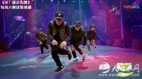 视频截图:《这!就是街舞》舞者在进行齐舞表演