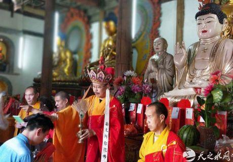 秦州区瑞莲寺为高考学子举行祈福法会
