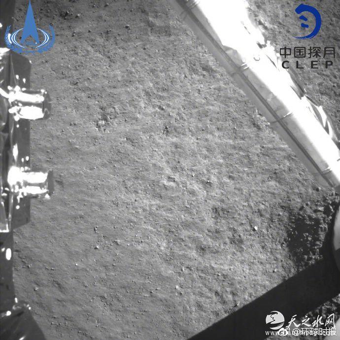 嫦娥四号着陆 传回世界首张近距拍摄月背影像图