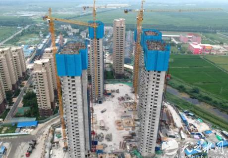 天津宝坻理想花园三期工程主体结构封顶 第三季度实测实量评比荣获冠军