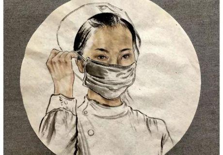 画笔寄深情 ——天水市文化馆青年画家南恒用画笔支援抗疫一线工作者
