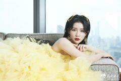蔡卓宜现身COSMO盛典 淡黄的长裙凸显甜姐魅力